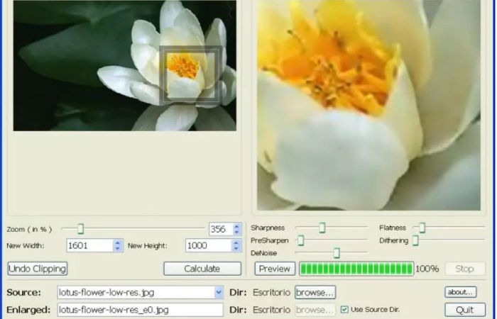 Aumentar el tamaño de una imagen sin perder calidad