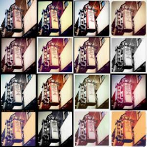 Instagram collage con 15 filtros diferentes