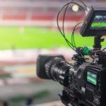 Cámaras para retransmitir partidos de fútbol